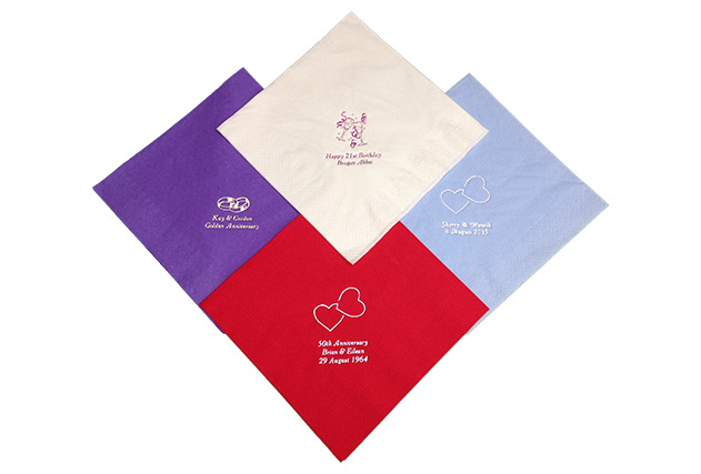 3ply 40cm Personalised Napkins with Motif