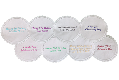 Personalised Paper Coasters for a Wedding, Anniversary, Birthday