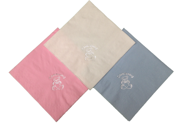 Christening Teddy Bear Napkins