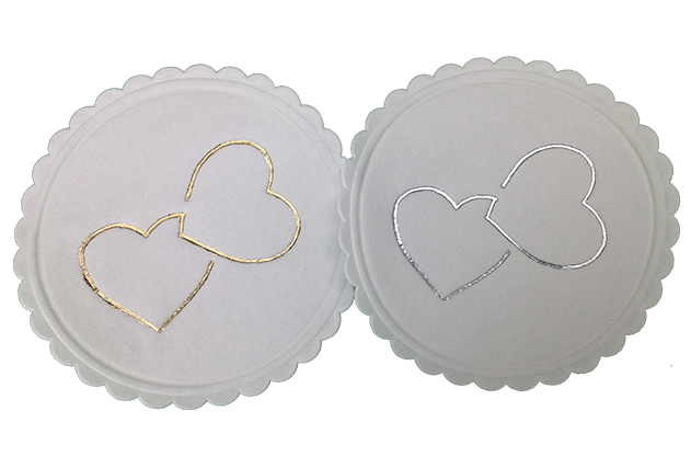 Double Heart Coasters