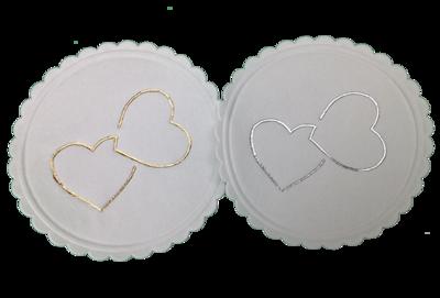 Double Heart Coasters