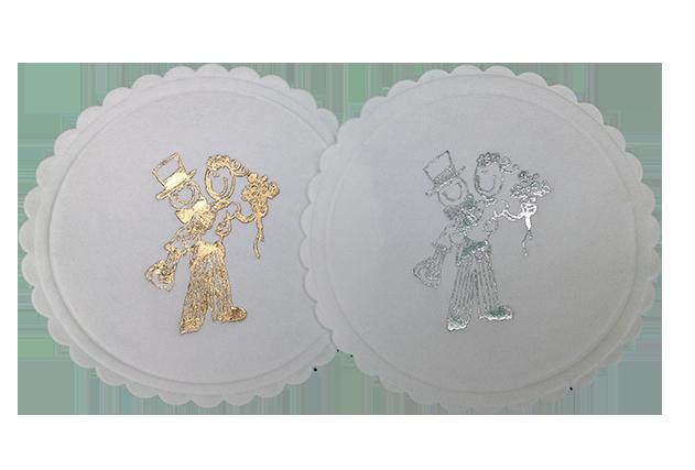 Cartoon Bride & Groom Coasters
