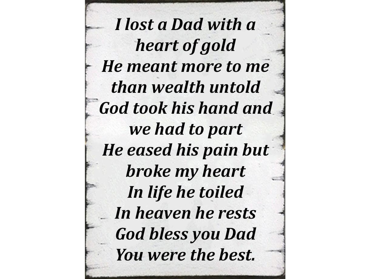 Mum/Dad Memory Poem