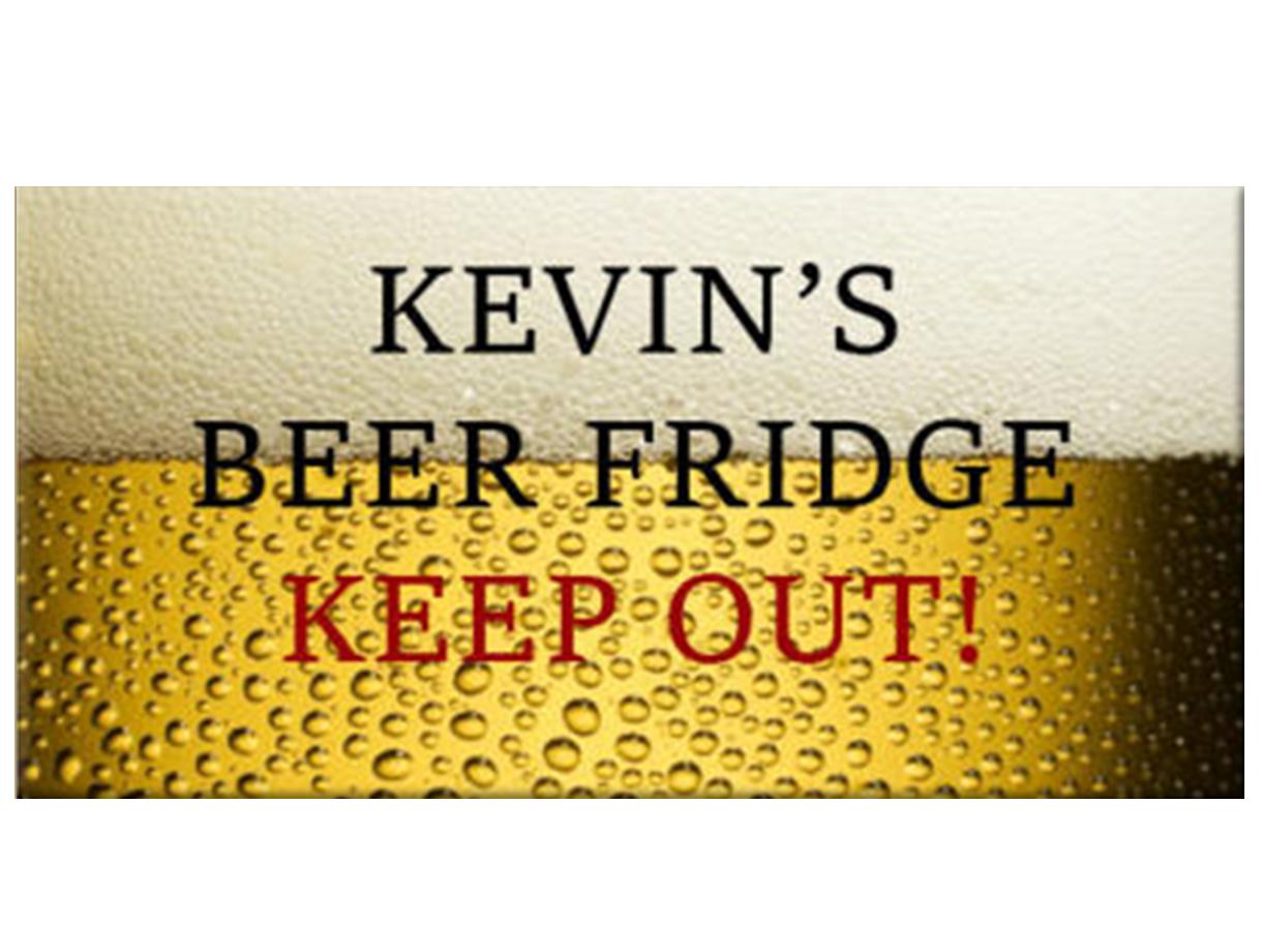 Personalised Beer Fridge