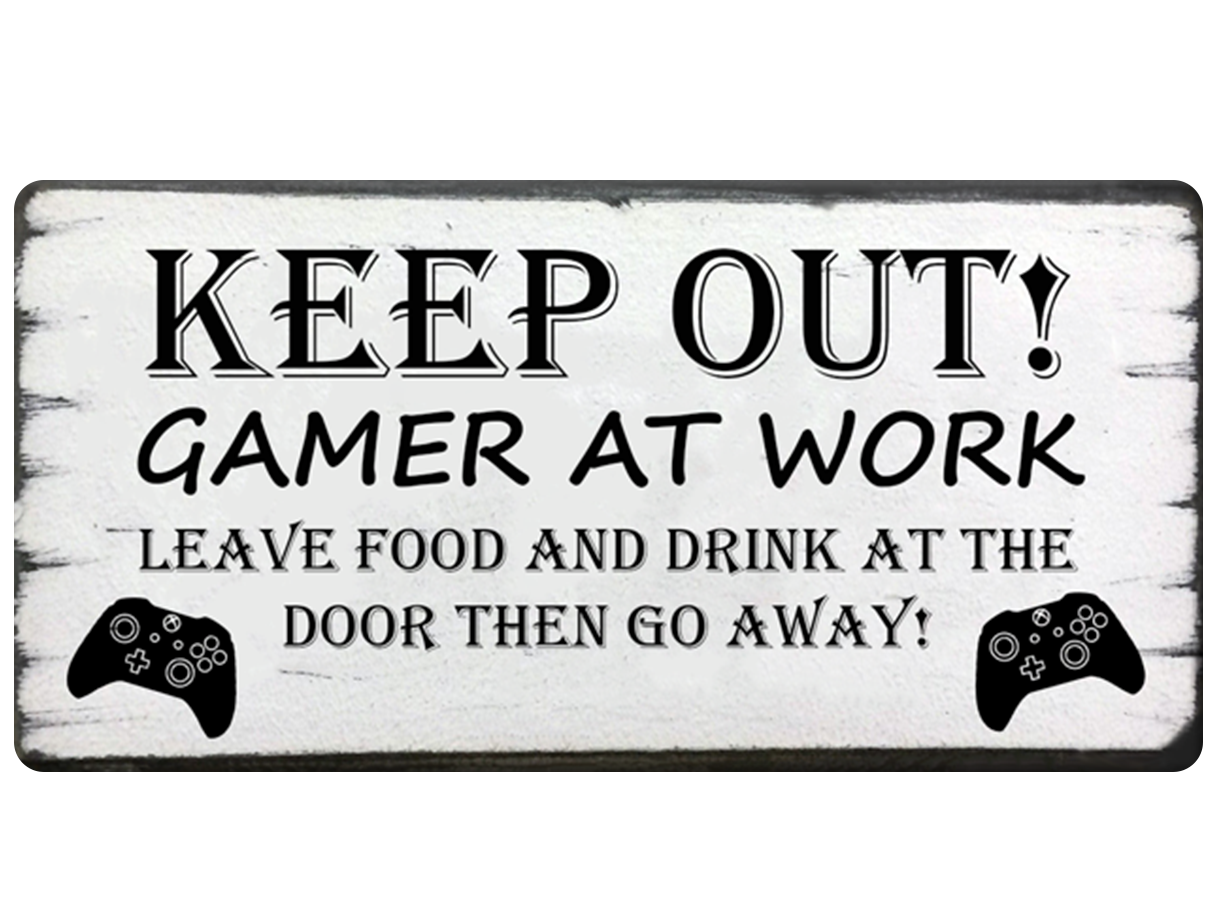 Gamer At Work (Xbox or PlayStation)