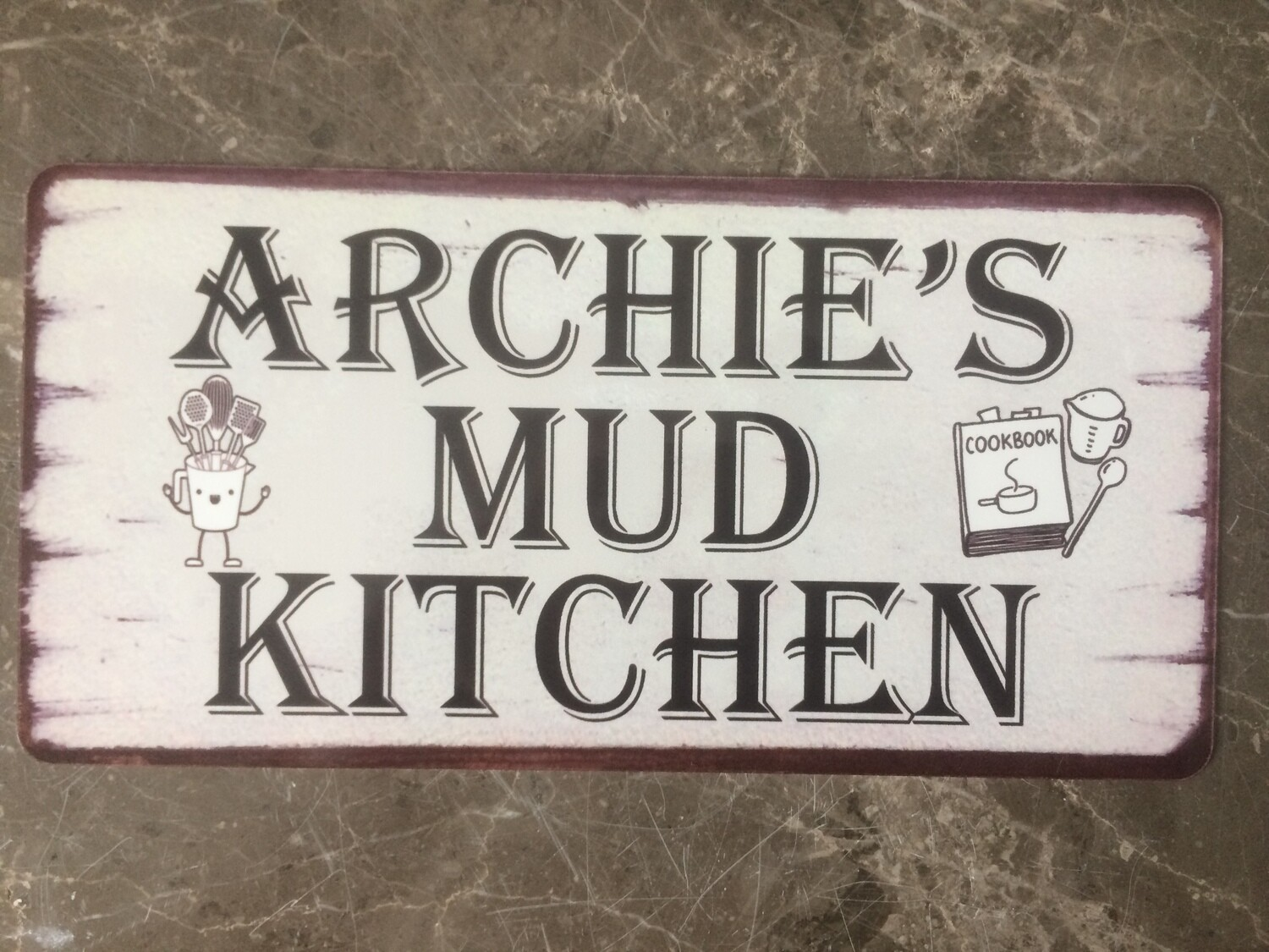 Personalised Mud Kitchen Sign