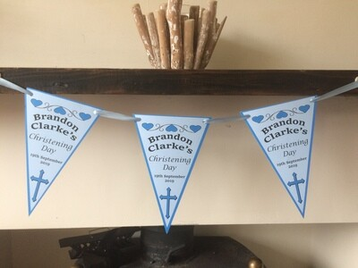 Boys Christening Day / Baptism Day Bunting