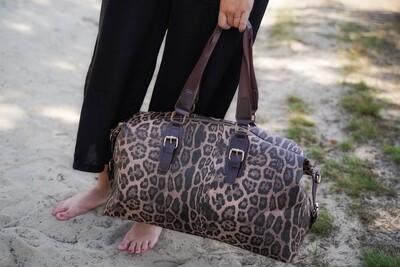 *Handtas - BRIANA - weekendtas leopard