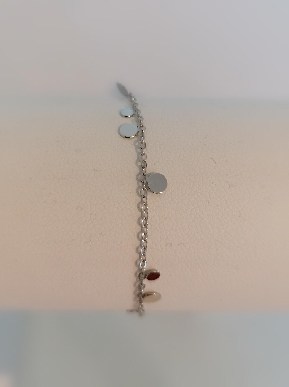 Armband - KAAT - zilver confetti (rondjes)