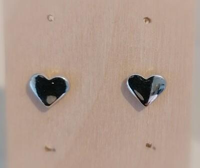 Zilveren stekertjes - gevulde hartjes - SHARON