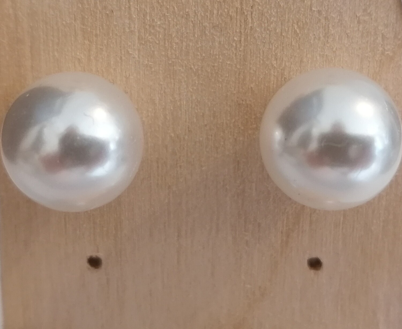 Stekertjes met witte parel - groot - LIVA