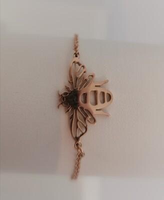 Armband - EMMY - rosé gouden bijtje