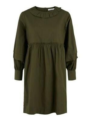 Korte jurk babydoll - MUTIA - kaki of beige