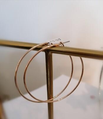 Hangoorbellen - grote ringen rosé goud - KIZZY