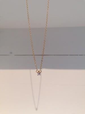 Korte halsketting met diamantje - SOFIA