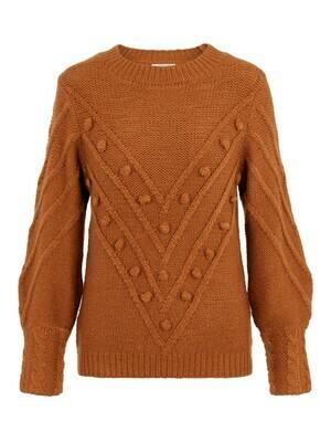 Knitwear trui - KULLA - roest