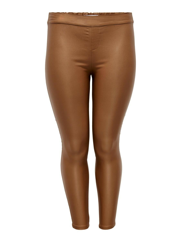 + Broek lederlook - ARGAIN - coated camel