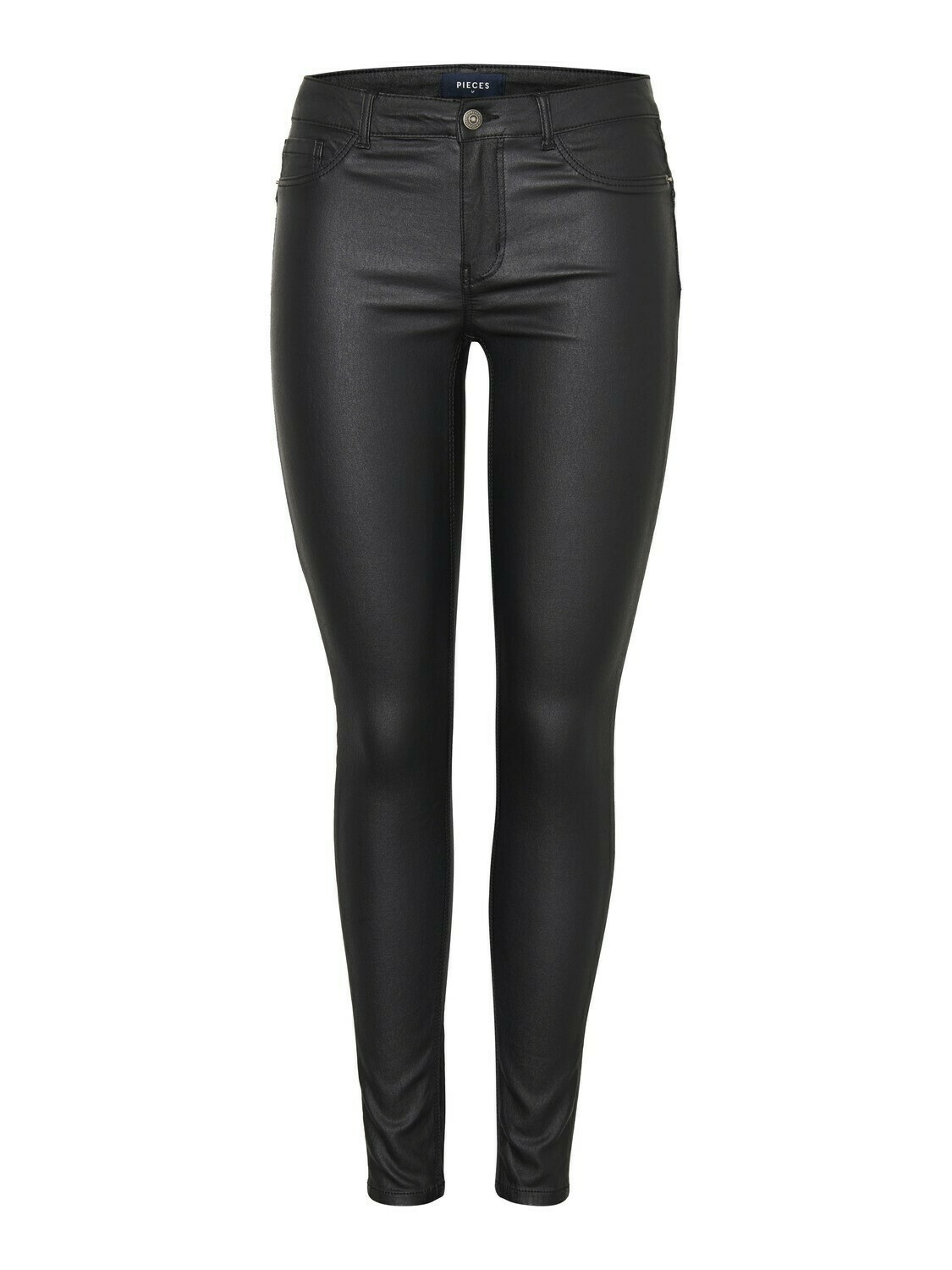 Broek shape up - PARO - coated zwart