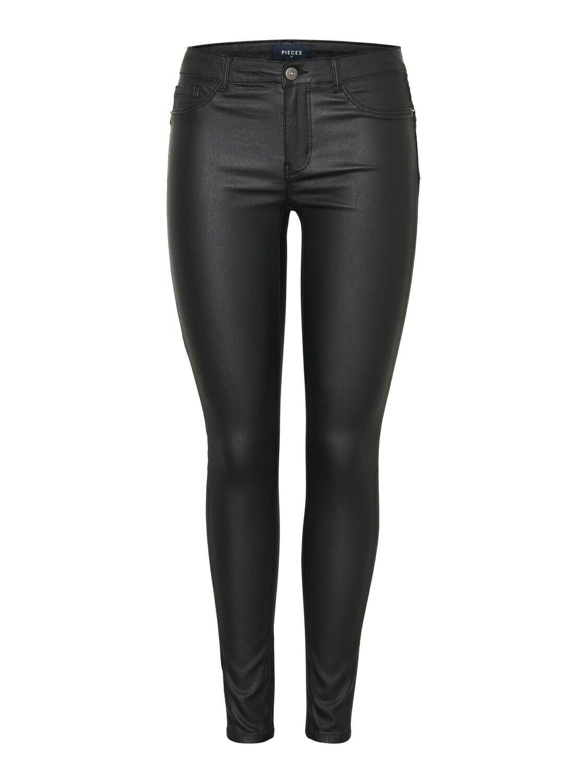 (*) Broek shape up - PARO - coated zwart