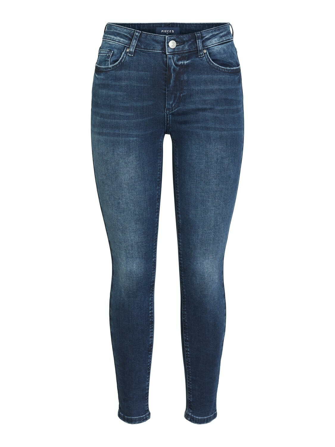 Broek - DELLY- jeans skinny donkerblauw - cropped