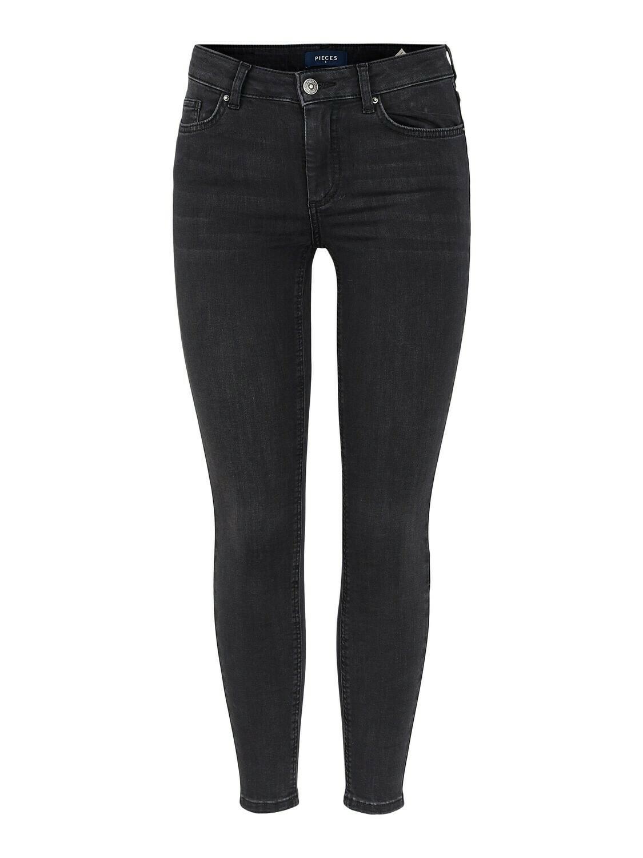 Broek - DELLY - jeans skinny zwart - cropped
