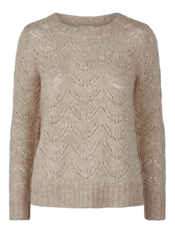 Knitwear - BIBI - beige gebreide trui