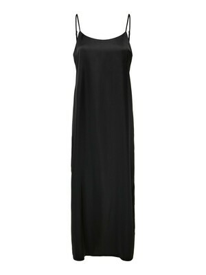 Midi jurk - TIFA - satijnlook zwart