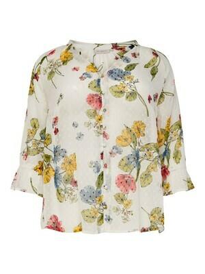 + Blouse - SPIRIT - wit met bloemenprint