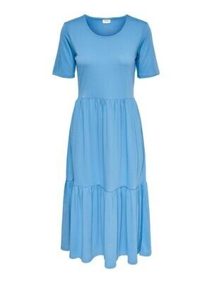 Midi jurk - DALILA - lichtblauw