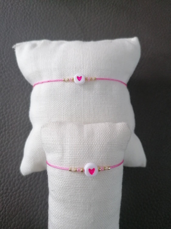 KIDS Armbandje - twinning is winning - roze