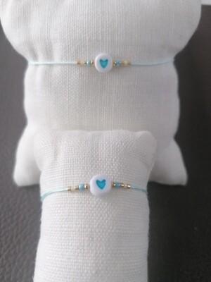 Armband volwassenen - twinning is winning - lichtblauw