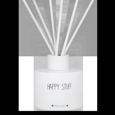 Geurstokjes medium met tekst 'HAPPY STUFF'