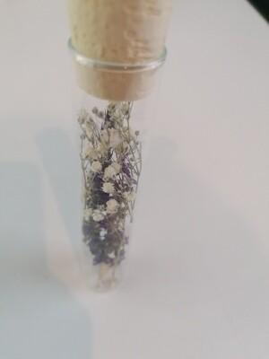 Droogbloemen in glazen buisje - keuze 1