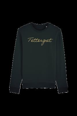 Trui sweater dames - TETTERGAT - zwart/goud