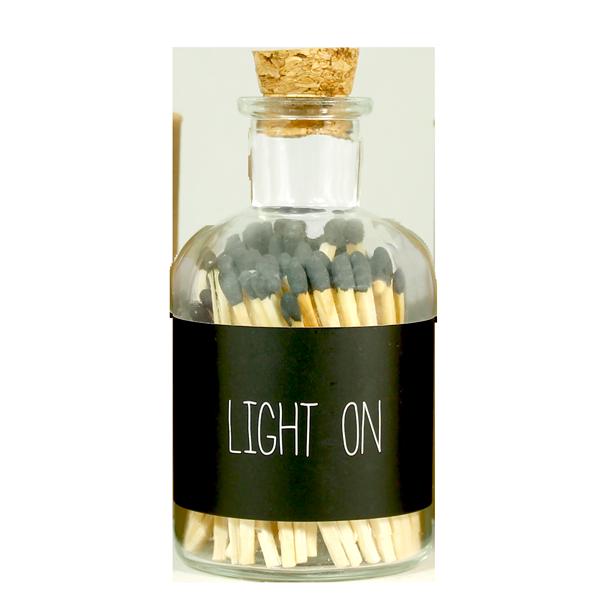 Matches - LIGHT ON - zwart