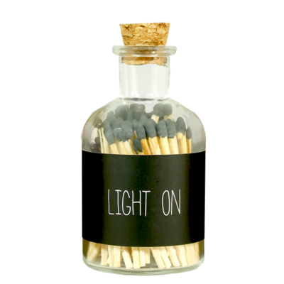 Matches - LIGHT ON - zwart