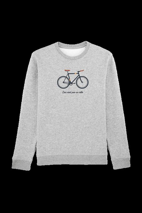 KIDS Trui sweater jongens - CECI N'EST PAS UN VELO - heather grey