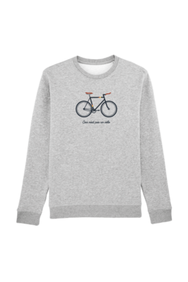 Trui sweater jongens - CECI N'EST PAS UN VELO - heather grey