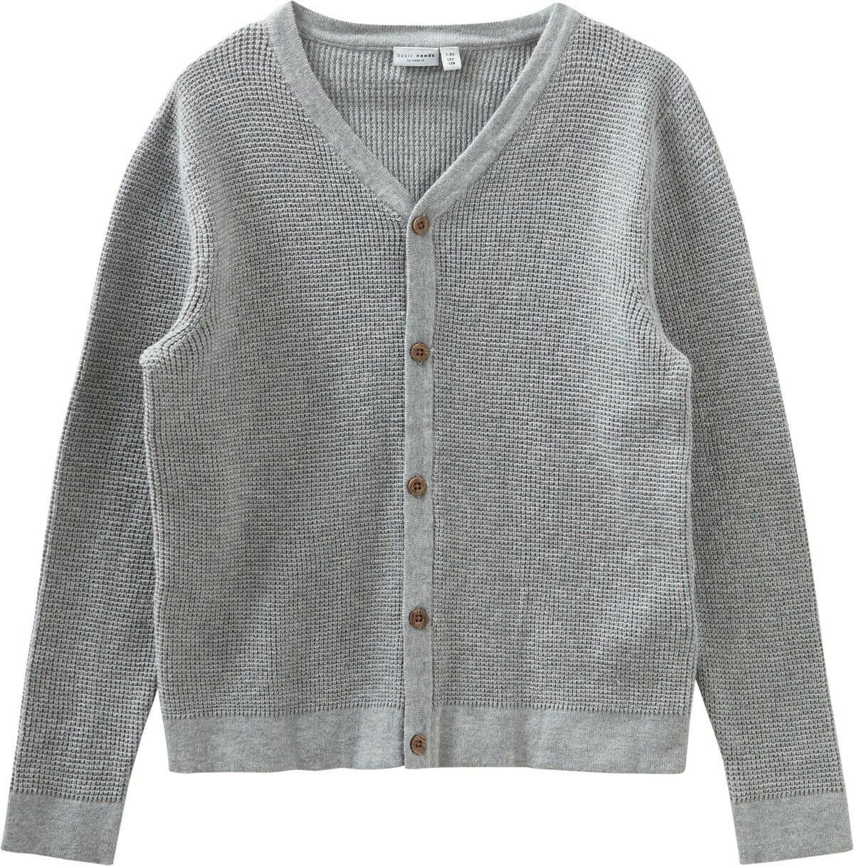 (*) KIDS Gebreide vest - VILTON - licht grijs