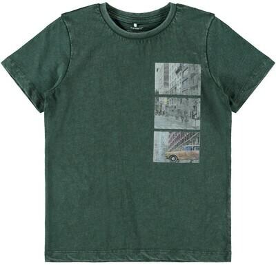 (*) KIDS t-shirt - KEMAL - donkergroen
