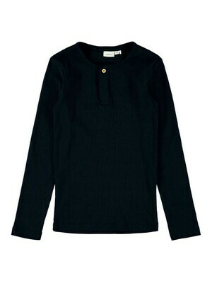 (*) KIDS T-shirt met lange mouw - KABILLE - zwart