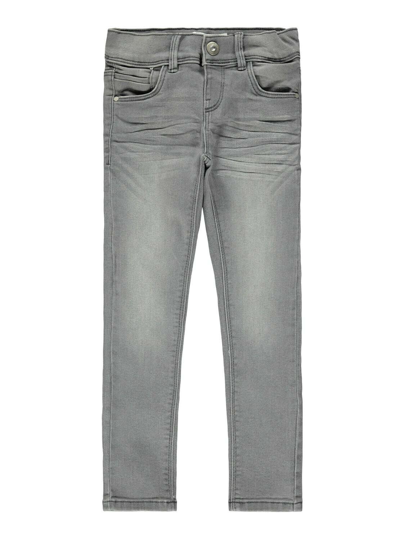 KIDS Broek jeans skinny - POLLY - light grey