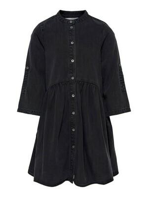 (*) KIDS Jeansjurk - CHICAGO - washed zwart