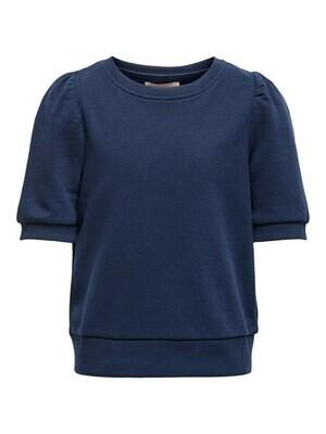 (*) KIDS top/trui sweater korte mouwen - SANNIE - blauw
