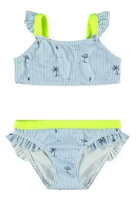 KIDS Bikini - ZIKKONA - wit/blauw gestreept
