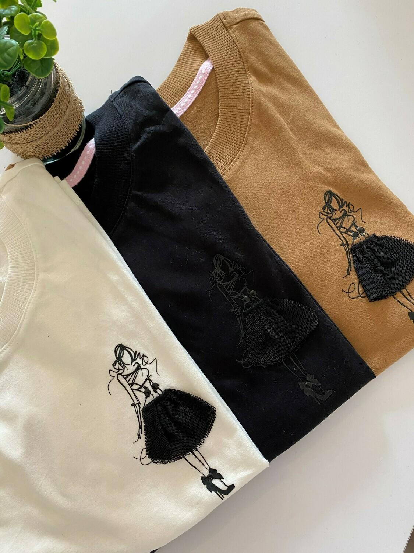 T-shirt met korte mouwen - FARA - zwart