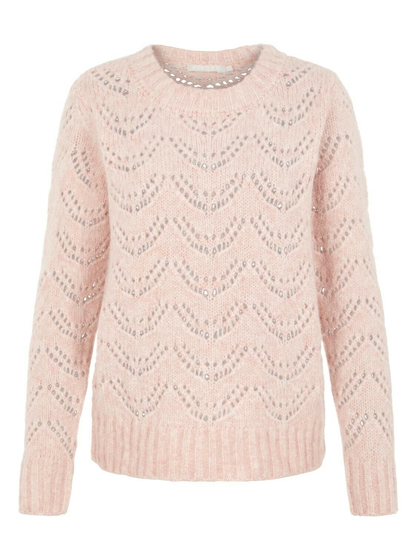 Knitwear - BIBI - zachtroze gebreide trui