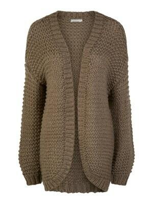 Knitwear halflange vest - SALMA - grijsbruin