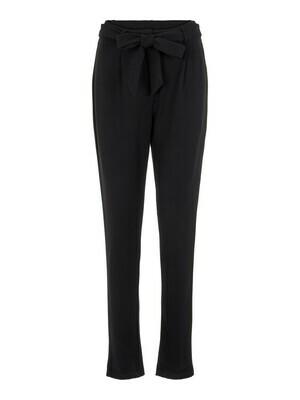 Broek - BEATE - zwarte broek met aansluitende pijpen
