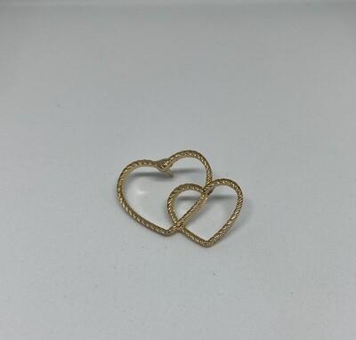 Pin - hearts - goud